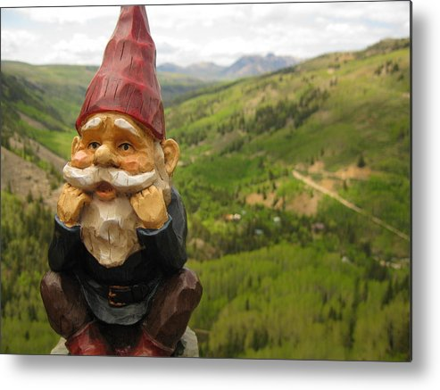 Gnome Metal Print featuring the photograph Alfred by Amara Roberts