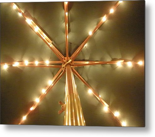 Lights Metal Print featuring the photograph All Lit Up by Siobhan Yost
