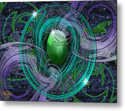 Digital Art Metal Print featuring the digital art Amulet by Greg Piszko