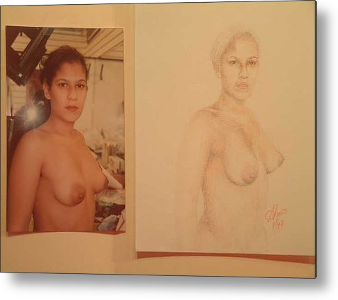 Nudes Metal Print featuring the painting Anna by Benito Alonso