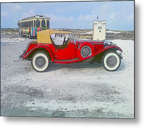 Old Car Metal Print featuring the photograph Antique Car by Michelle Powell