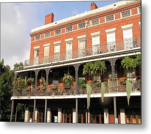 New Orleans Metal Print featuring the photograph Apartments French Quarter by Jack Herrington
