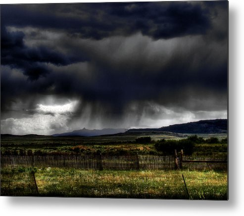 Landscape Metal Print featuring the photograph Apocalyptic by Tingy Wende