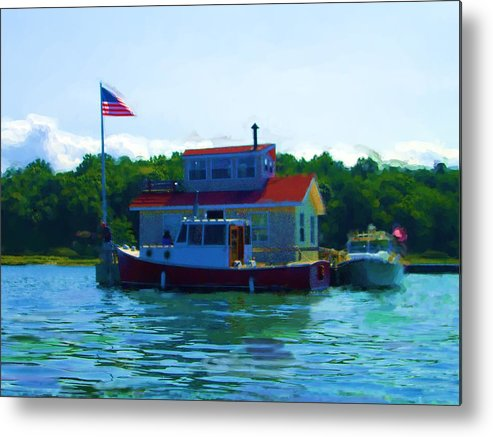 Our Bronx New York City House Boat Metal Print featuring the painting As Seen On National American Express Tv Commerica by Jonathan Galente