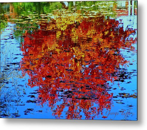 Reflections Autumn Trees Fall Water Colorful Colorado Metal Print featuring the photograph Autumn Reflection by George Tuffy