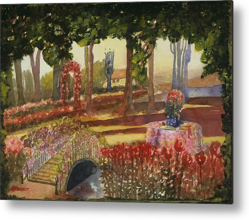 Reds Metal Print featuring the painting Basics Sisters by Helen Musser
