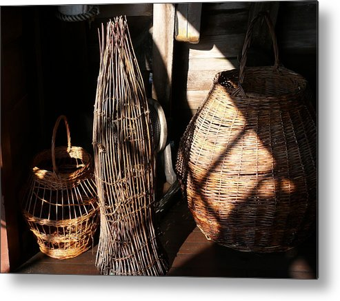 Basket Metal Print featuring the photograph Baskets by Mark Grayden