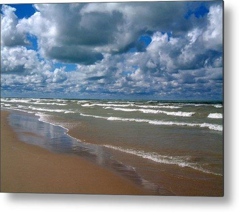 Sky Metal Print featuring the photograph Beach Kincardine by Douglas Pike
