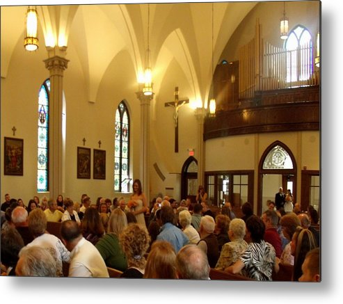 Church Metal Print featuring the photograph Beautiful Church Wedding by Lila Mattison