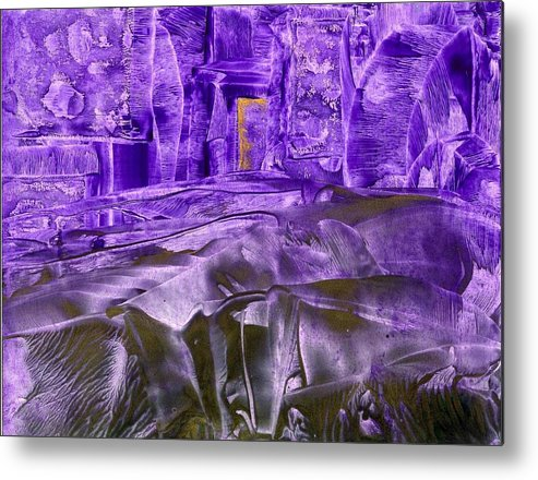 Encaustic Metal Print featuring the painting Big Steps by Heather Hennick