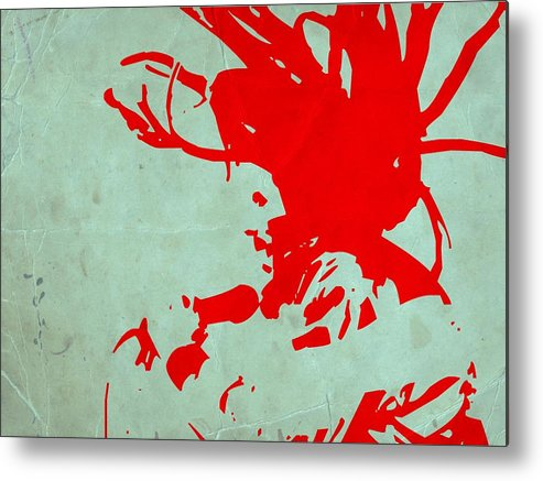 Metal Print featuring the painting Bob Marley Red by Naxart Studio