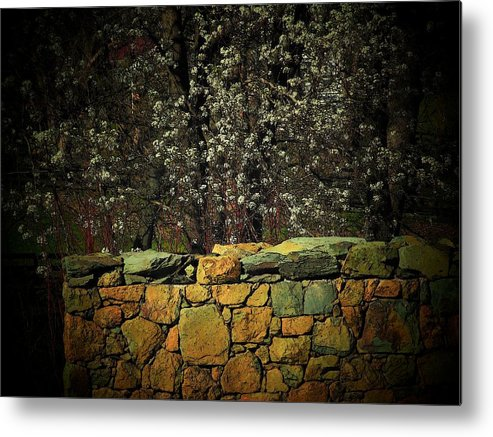 Fence Metal Print featuring the photograph Brick Fence by Michael L Kimble