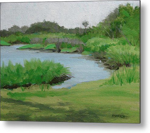 Landscape Metal Print featuring the painting Bulow Woods Creek by Robert Rohrich