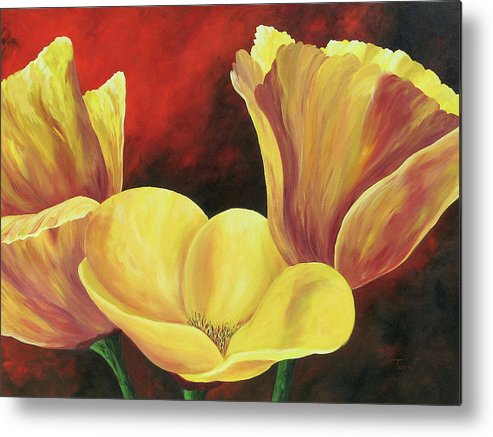Poppies Metal Print featuring the painting California Poppies Iv by Torrie Smiley