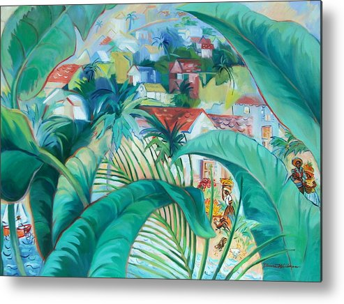 Caribbean Figures Metal Print featuring the painting Caribbean Fantasy by Dianna Willman