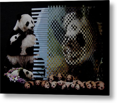 Woven Animals Metal Print featuring the mixed media China's Rebirth Of The Mighty Panda by David m Morgan