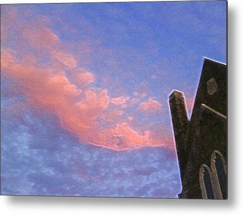 Church Metal Print featuring the photograph Church At Sunset Ae by Lyle Crump