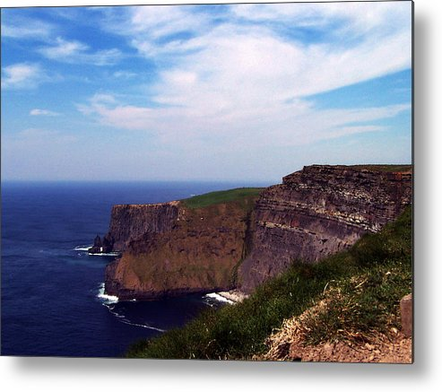 Irish Metal Print featuring the photograph Cliffs Of Moher Aill Na Searrach Ireland by Teresa Mucha