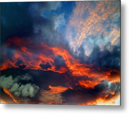 Photography Metal Print featuring the photograph Cloud Abstract 1 by Michael Durst