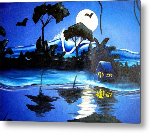 Surf Metal Print featuring the painting Costarica Nightlife by Ronnie Jackson