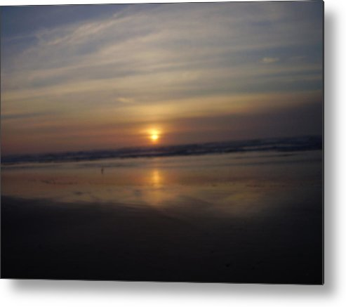 Seascape Metal Print featuring the photograph Dark Reflection by Yvette Pichette
