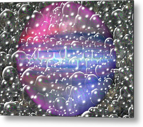 Abstract Digitall Art Metal Print featuring the photograph Digital Space by Guillermo Mason