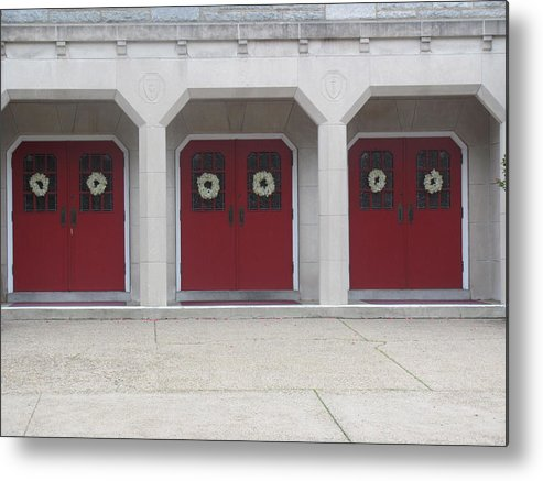 Metal Print featuring the photograph Doors by Sol Maria Rivera