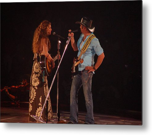 Concert Metal Print featuring the photograph Faith And Tim Sing by Bobby Miranda