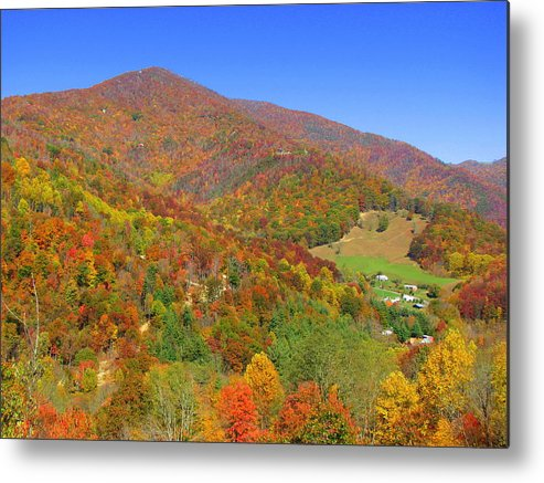North Carolina Metal Print featuring the photograph Fall Mountains by April Camenisch