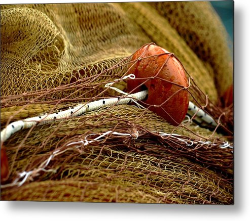 Background Metal Print featuring the photograph Fishing Net by Darkus Photo