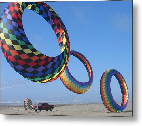 Metal Print featuring the digital art Flying High by Barb Morton
