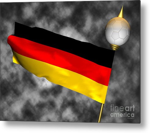 Fifa Metal Print featuring the photograph Football World Cup Cheer Series - Germany by Ganesh Barad
