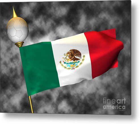 Fifa Metal Print featuring the photograph Football World Cup Cheer Series - Mexico by Ganesh Barad
