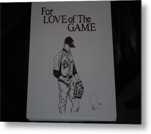 Ink Metal Print featuring the drawing For Love Of The Game by Raymond Nash