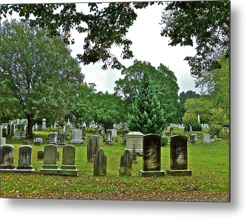Graves Metal Print featuring the photograph Former Neighbors by Diana Hatcher