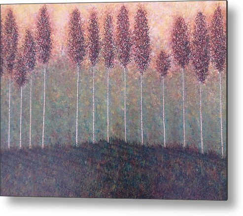 Trees Landscape Forest Metal Print featuring the painting Freebush by Sally Van Driest