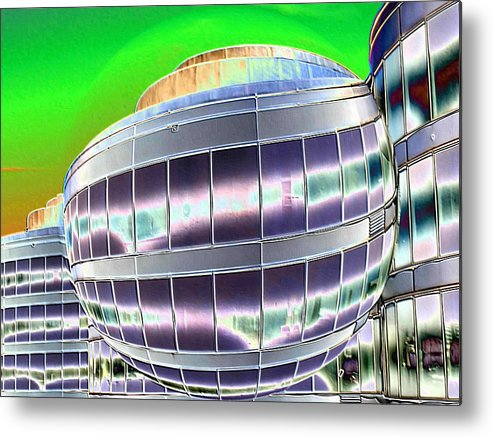 Digital Art Metal Print featuring the photograph Future Office Space by Carol Groenen