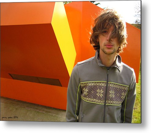 Orange Metal Print featuring the photograph Generation Why by Gerard Yates