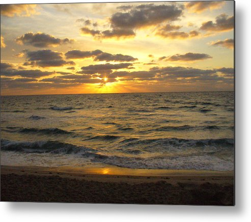 Seahsore Metal Print featuring the photograph Golden Sunrise by Peggy King
