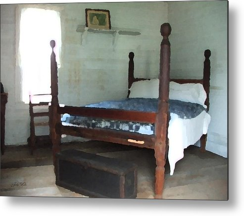 Old Metal Print featuring the photograph Grandmother's Bedroom by Judy Waller