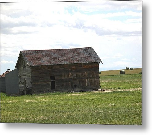 Landscape Metal Print featuring the photograph Grassland Farm by Margaret Fortunato