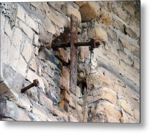 Cross Metal Print featuring the photograph Gristmill Cross One by Ana Villaronga