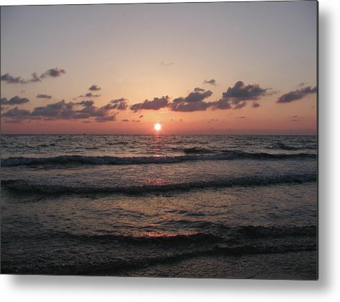 Gulf Metal Print featuring the photograph Gulf Sunset by Bill Cannon