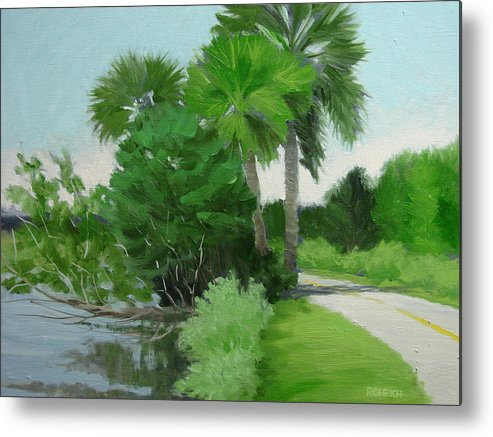 Landscape Metal Print featuring the painting Highbridge Road Trees by Robert Rohrich