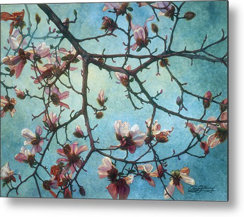 Blossoms Metal Print featuring the painting Homage To Vincent by Craig Gallaway