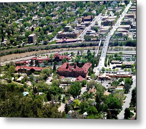 Hot_springs Metal Print featuring the photograph Hot Springs Spa At Glenwood Springs - A Birds Eye View by Christine S Zipps