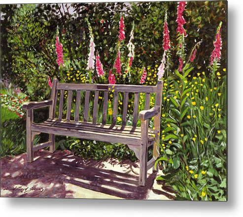 Gardens Metal Print featuring the painting Huntington Spring by David Lloyd Glover