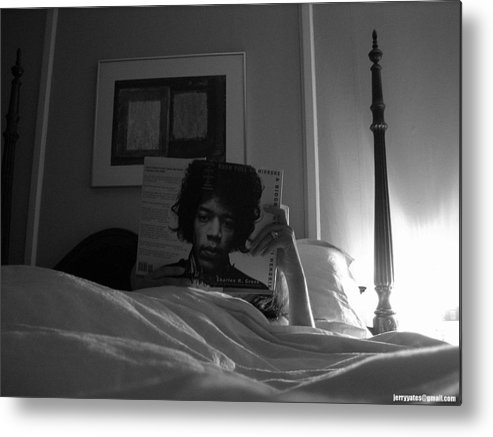 Jimi Hendrix Metal Print featuring the photograph In Bed With Hendrix by Gerard Yates