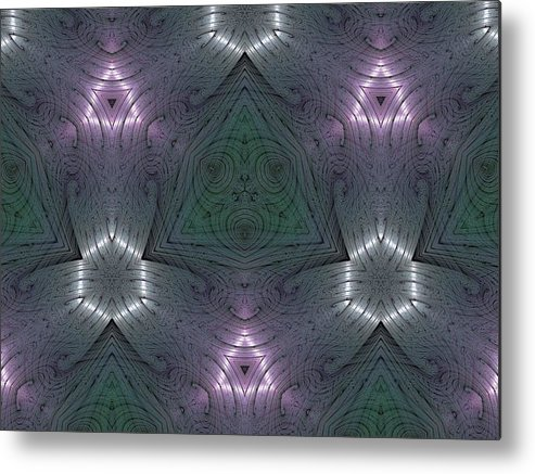 Kaleidoscope Metal Print featuring the digital art Inside The Crystal by Ricky Kendall
