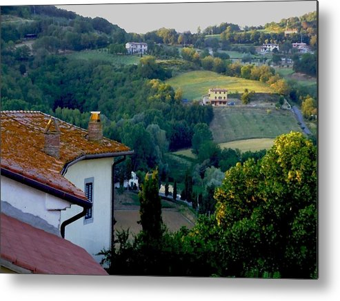 Landscape Metal Print featuring the photograph Italian Morn by Chuck Shafer